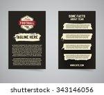 american football university... | Shutterstock .eps vector #343146056