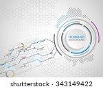 vector digital technology... | Shutterstock .eps vector #343149422