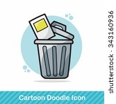 trash can doodle | Shutterstock .eps vector #343160936