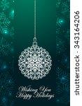 winter holidays ornate... | Shutterstock .eps vector #343164206