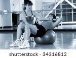 aerobic class   Shutterstock . vector #34316812