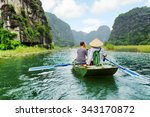 tourists traveling in small... | Shutterstock . vector #343170872
