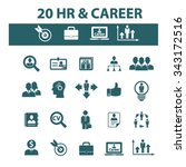 hr  career  job  icons  signs... | Shutterstock .eps vector #343172516