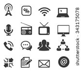 communication icon  vector | Shutterstock .eps vector #343175078