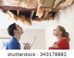 builder and client inspecting...   Shutterstock . vector #343178882