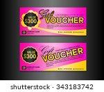 pink gift voucher template ... | Shutterstock .eps vector #343183742