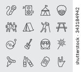 festival line icon | Shutterstock .eps vector #343184942