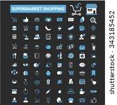 retail  supermarket  sales ... | Shutterstock .eps vector #343185452