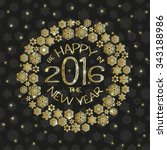 new year greeting card with... | Shutterstock .eps vector #343188986