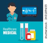 medical healthcare graphic... | Shutterstock .eps vector #343189655