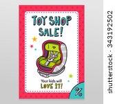 toy shop bright vector sale... | Shutterstock .eps vector #343192502