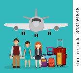 airport industry design  vector ... | Shutterstock .eps vector #343194848