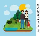 happy family design  vector... | Shutterstock .eps vector #343196612