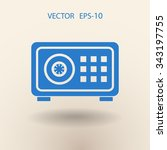 flat icon of safe | Shutterstock .eps vector #343197755