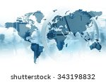 time for global business. map... | Shutterstock . vector #343198832