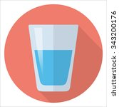 glass of water flat design | Shutterstock .eps vector #343200176