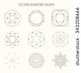 collection of vector geometric... | Shutterstock .eps vector #343208666