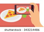 people taking picture photo of... | Shutterstock .eps vector #343214486