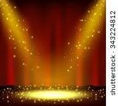 spotlight shining with... | Shutterstock .eps vector #343224812