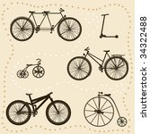 Vector Set Of Bicycle...