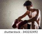attractive male. | Shutterstock . vector #343232492