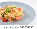 Pasta With Bacon And Tomato In...
