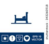 vector bed icon. | Shutterstock .eps vector #343260518