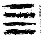 vector grunge brushes | Shutterstock .eps vector #34326850