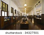 colonial bank interior | Shutterstock . vector #34327501