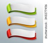 vector banners set. | Shutterstock .eps vector #343277456