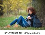 portrait of a young attractive... | Shutterstock . vector #343283198