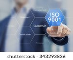iso 9001 standard for quality... | Shutterstock . vector #343293836
