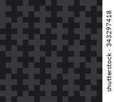 seamless dark gray op art... | Shutterstock . vector #343297418