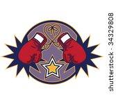 boxing glove emblem   Shutterstock .eps vector #34329808