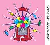 candy dispenser   Shutterstock .eps vector #34329823