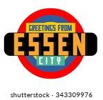 essen in germany is beautiful... | Shutterstock .eps vector #343309976
