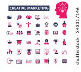 creative marketing  icons ... | Shutterstock .eps vector #343317146