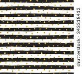 seamless pattern of random gold ... | Shutterstock .eps vector #343318412