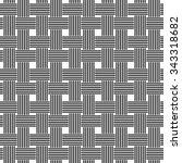 seamless black and white weave... | Shutterstock .eps vector #343318682