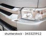 old vehicle headlight ... | Shutterstock . vector #343325912
