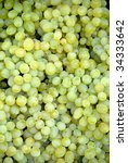 Green grapes at a farmers market in France - stock photo