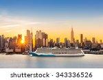 New York City Skyline At...