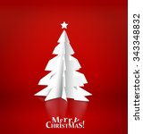 merry christmas greeting card... | Shutterstock .eps vector #343348832