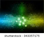 dark blue green yellow light... | Shutterstock .eps vector #343357175