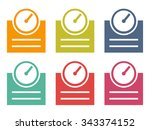 weighing scale background | Shutterstock .eps vector #343374152