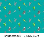 parrot african wallpaper | Shutterstock .eps vector #343376675