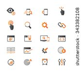 seo services icons | Shutterstock .eps vector #343382108