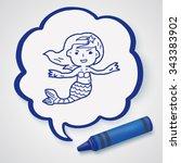 mermaid doodle | Shutterstock .eps vector #343383902