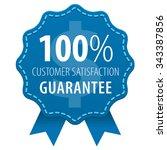 customer satisfaction guarantee ... | Shutterstock .eps vector #343387856