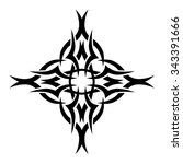 tattoo tribal vector design... | Shutterstock .eps vector #343391666